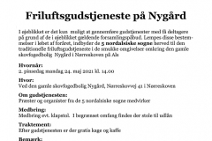 Fælles nordalsisk friluftsgudstjeneste på Nygård
